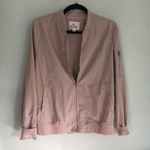 Light Pink Bomber Jacket